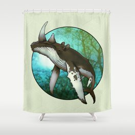 Whale Oil Shower Curtain