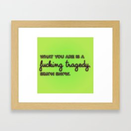 CARRY ON | Tragedy Framed Art Print