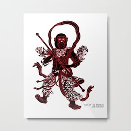 Chinese zodiac sign, Year of the Monkey Metal Print