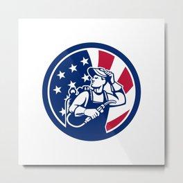 American Lit Operator USA Flag Icon Metal Print