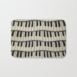 Rock And Roll Piano Keys Bath Mat