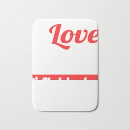 I Love Sleeping It's Like Being Dead Without The Commitment T-shirt Design Napping Resting Relax Bath Mat