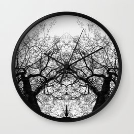 Dark Leaves by Charles Mike Wall Clock