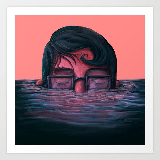 Underwater breath Art Print