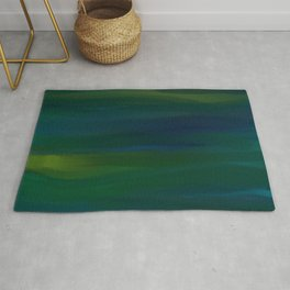 Navy, Peacock Green Abstract Rug