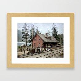 CPR Station, Hope, BC c.1895 Framed Art Print