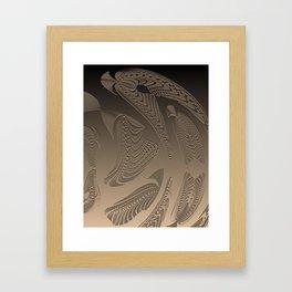 Smooth Aboriginal Geometric Spirit Framed Art Print