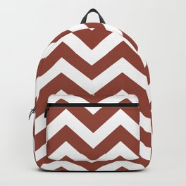 Chestnut brown - brown color - Zigzag Chevron Pattern Backpack