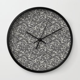 Gray Army Camouflage Wall Clock