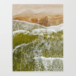 Baltic sea, aerial view Poster