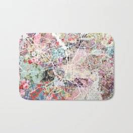 Columbus map Georgia Bath Mat