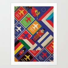 EU Travel Poster Art Print