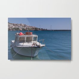 Boat On Crete Metal Print