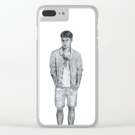 Contemplative Gentleman Clear iPhone Case