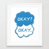 tfios Framed Art Prints featuring TFIOS Dots by All Things M