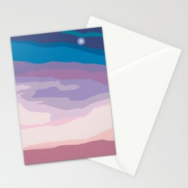 Painted Sunset Stationery Cards