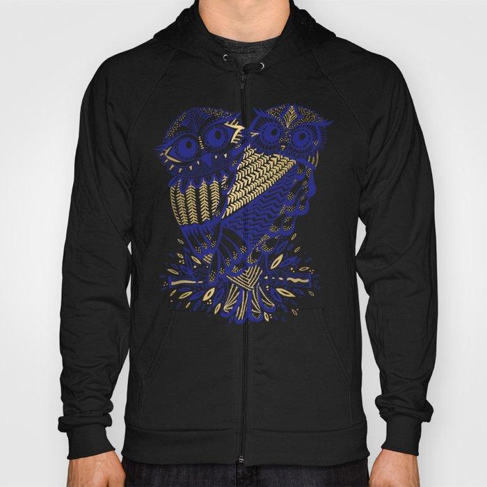 Owls – Navy & Gold Hoody