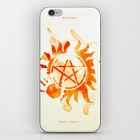 supernatural iPhone & iPod Skins featuring Supernatural by Rose's Creation