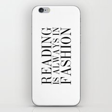 Reading is Always in Fashion iPhone & iPod Skin