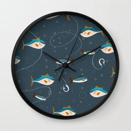 Fishing pattern Wall Clock