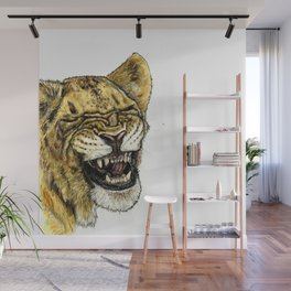 LAUGHING LION Wall Mural