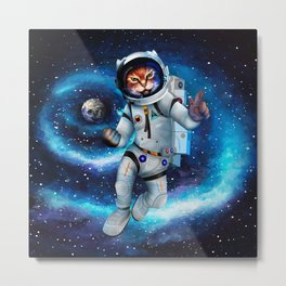 Space cat Metal Print