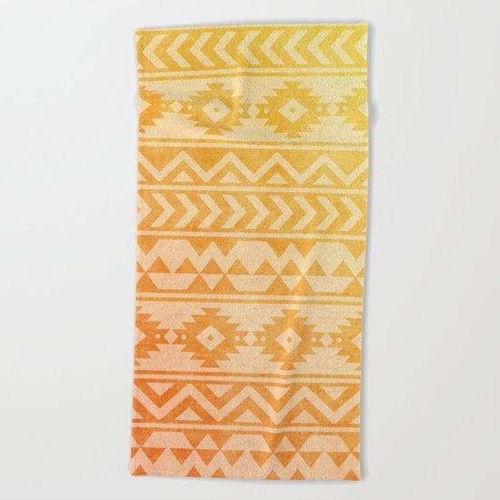 Aztec Pattern 08 Beach Towel