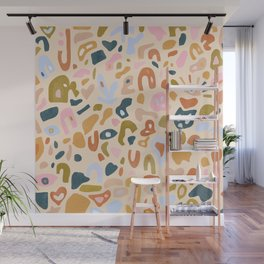 Abstract Paper Cuts Wall Mural