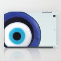 evil eye iPad Cases featuring Evil Eye by SalbyN