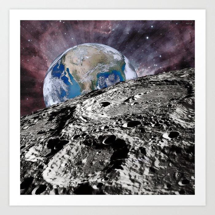Beyond The Moon Art Print