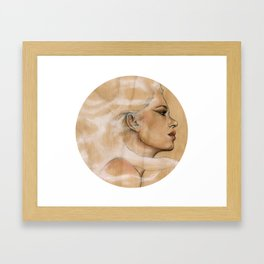 She made herself stronger, by fighting with the Wind Framed Art Print
