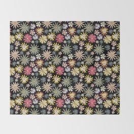 Dusk Wildflowers Throw Blanket