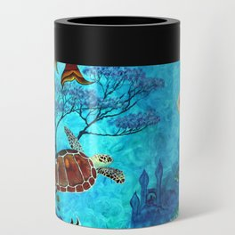 A Fish of a Different Color - Mermaid and seaturtle Can Cooler
