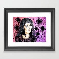 Lady Lace Framed Art Print
