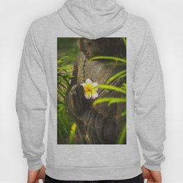 buddha hands with plumeria flower Hoody