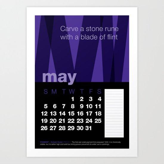 2013 Pigment to Pantone Calendar – MAY Art Print