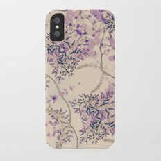 47 Wisteria Circle - Vintage Cream and Lavender Purple Mandala iPhone X Slim Case