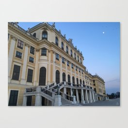 Moon rises at Schönbrunn Palace in Vienna Canvas Print