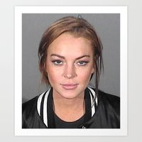 lindsay lohan Art Prints featuring Lindsay Lohan by Neon Monsters