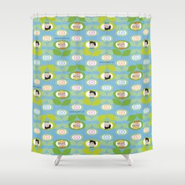 mabo & jimmy garden - blue Shower Curtain