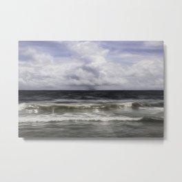 Rain on the Sea Metal Print