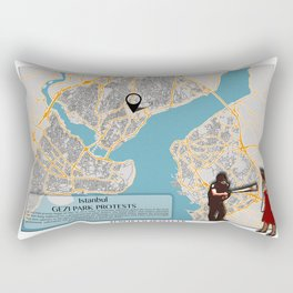 Atlas of Inspiring Protests; ISTANBUL Rectangular Pillow