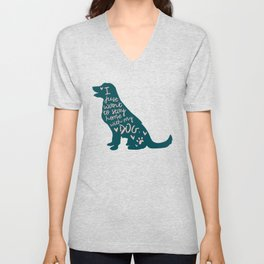Stay at Home Dog Unisex V-Neck