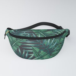 Palm and Banana Leaf Tropical Pattern Fanny Pack