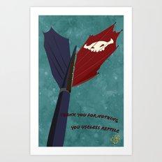 Toothless' Battle Flag Art Print