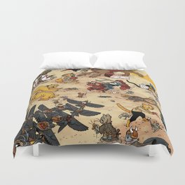 CAT VS MICE Duvet Cover