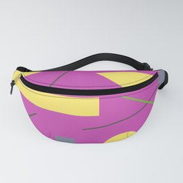 Geometry on Pink Fanny Pack