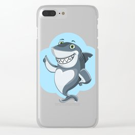 Smiling Shark Gives a Thumbs Up Clear iPhone Case