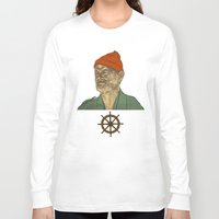 steve zissou Long Sleeve T-shirts featuring Steve Zissou by Philipp Banken