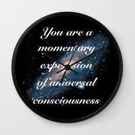 Momentary Expression of Universal Consciousness Wall Clock